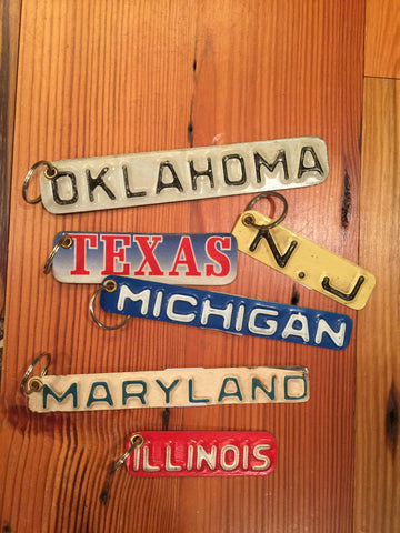 License Plate Key Ring--States