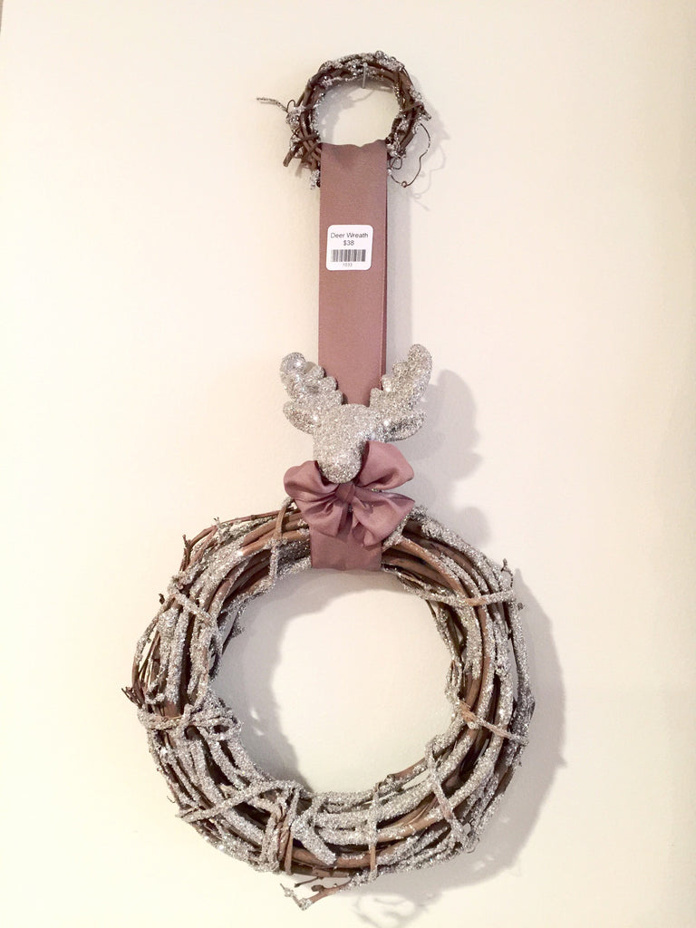 Deer Head Twig Wreath