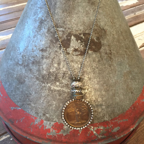 Bling Coin Pendant Necklace