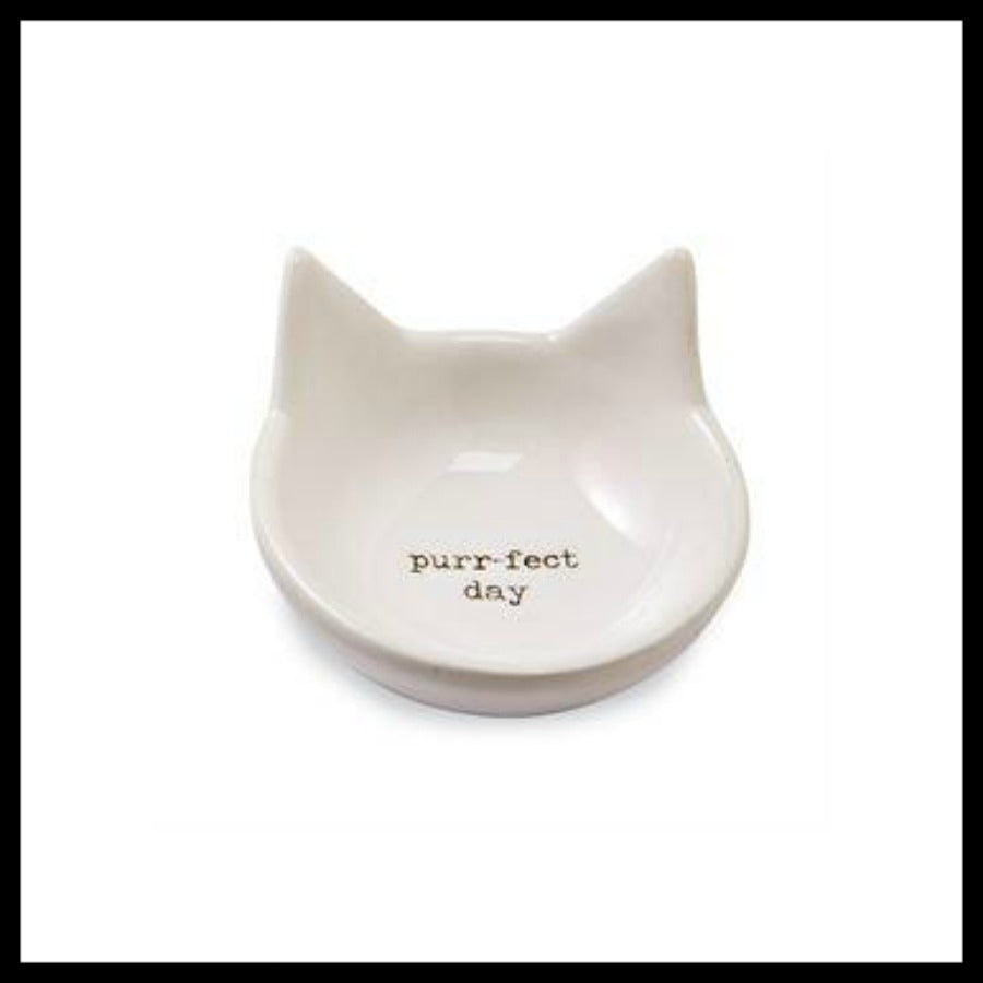 """Purr-fect Day"" Cat Trinket Dish by Mud Pie"