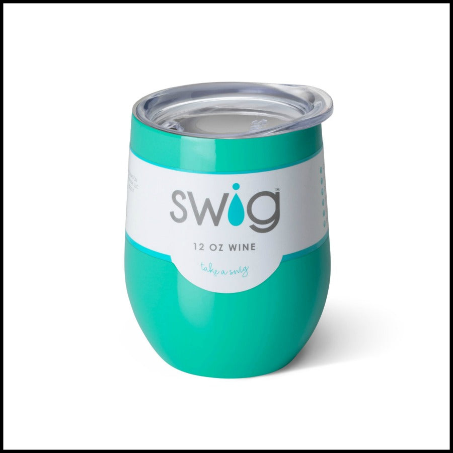 Turquoise SWIG 12oz. Stemless Cup