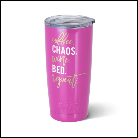 """Chaos, Repeat"" SWIG 20oz. Tumbler"