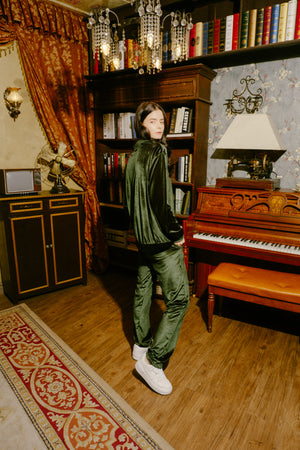 Velour Trousers - Emerald
