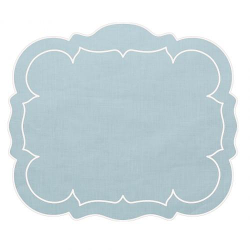 MARY MARGARET LEE Skyros - Linho Rect Placemat Ice Blue GCO