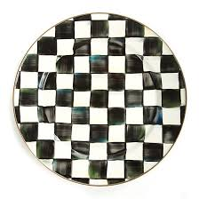 Lane Preston - Mackenzie Childs Courtly Check Dinner Plate GCO