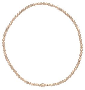 Classic Gold 2mm Bead Bracelet Bliss Bar Gold