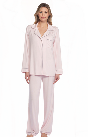 Luxe Milk Jersey Piped Pajama, More Colors