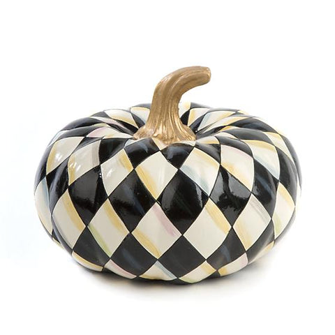 Courtly Harlequin Squashed Pumpkin Small