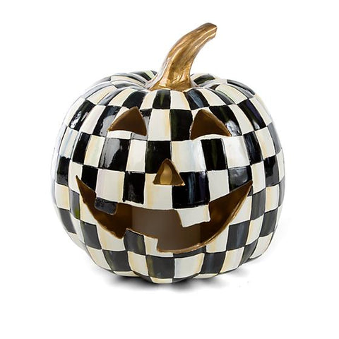Courtly Check Illuminated Jack O' Lantern