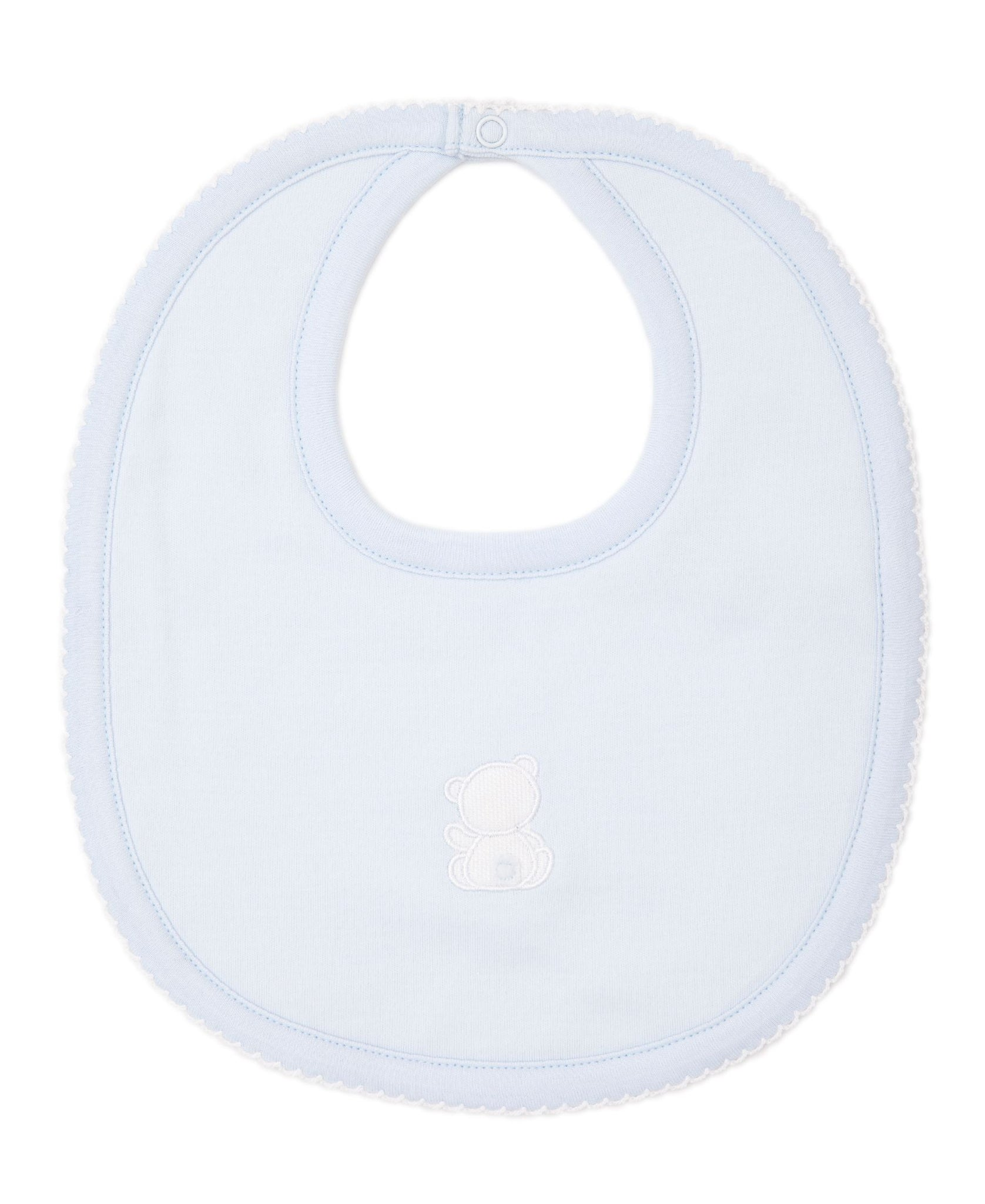 Light Blue Pique Bare Back Bib