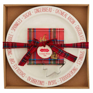Tartan Cookie Plate Set