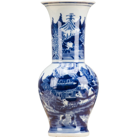 Blue and White Flair Vase