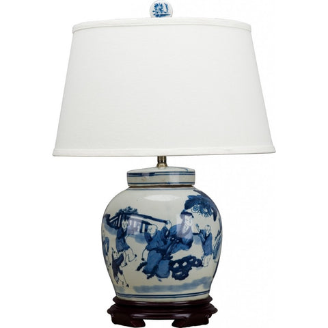 Blue and White Jar Lamp