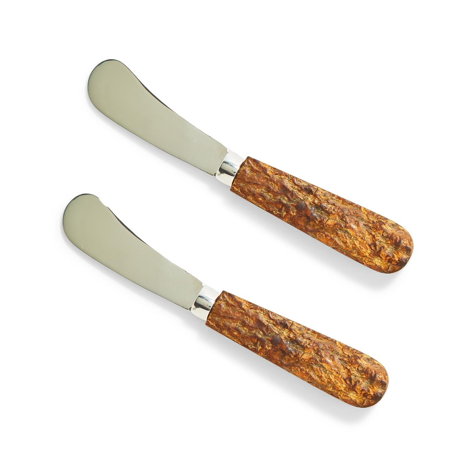 Bark Handle Spreaders Set of 2