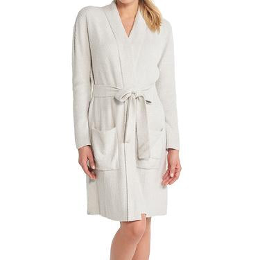 Heathered Ribbed Robe (Sliver/Pearl)