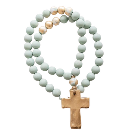 Harper Blessing Beads Turquoise with Turquoise Gold 30""