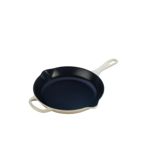 "Iron 10.25"" Handle Skillet, White"