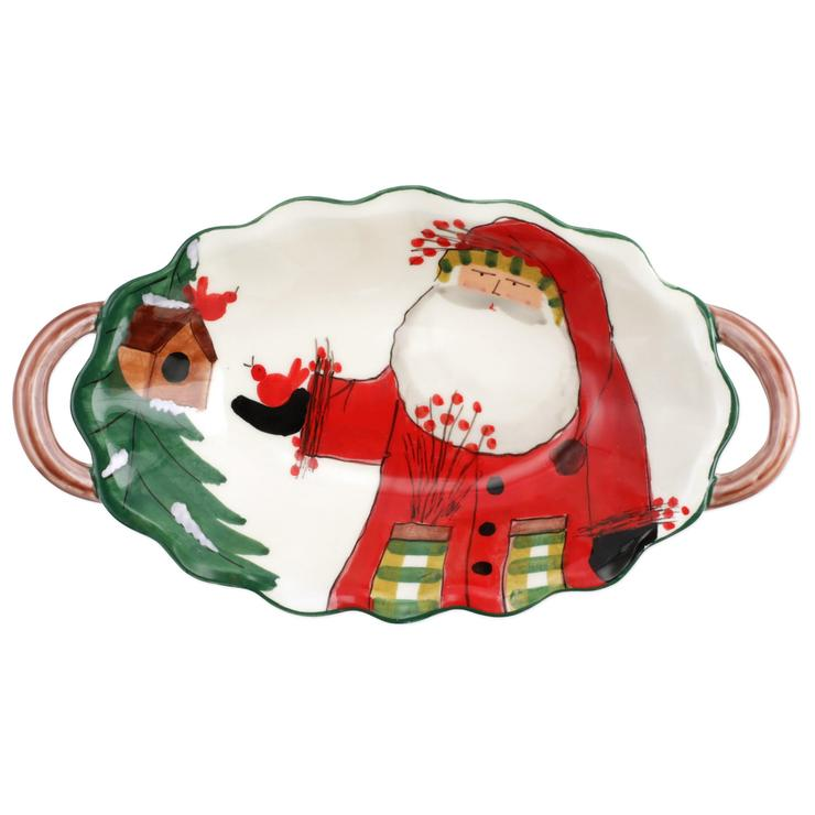 Old St. Nick Limited Edition Handled Bowl
