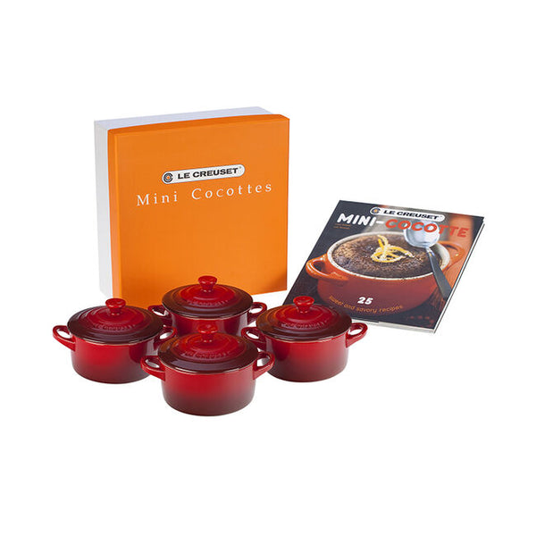 Mini Cocottes Set with Cookbook, More Colors
