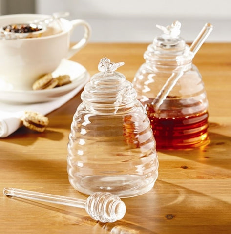 Honey Pot w/ Dipping Stick