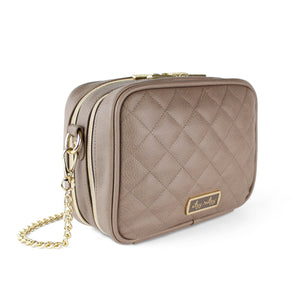 Taupe Double Take Crossbody Diaper Bag