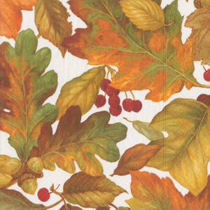 Fall Leaves Cocktail Napkin