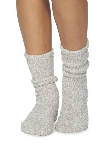 Cozychic Women's Heathered Sock (Oyster White)