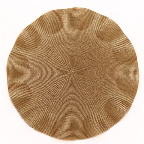 Ruffle Edge Linen Placemat, Gold