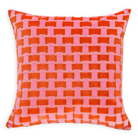 Gwen Pink Orange Pillow 22""
