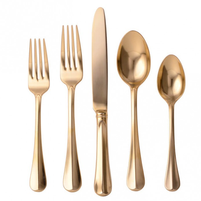 SUMMER GOFF - Juliska Bistro Gold Flatware GCO