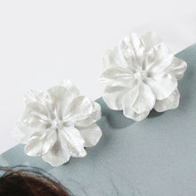 Load image into Gallery viewer, Charming Cute Camellia Simulated Pearl Floral Earrings