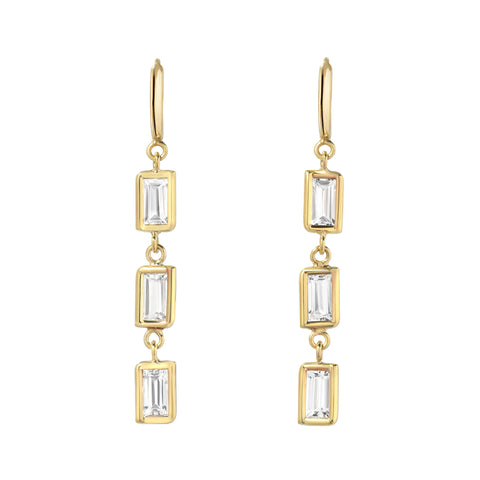 Tourmaline Trio Earring