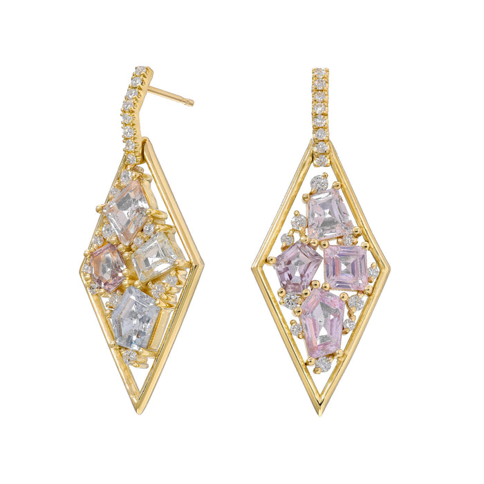 Diamond Mosaic Earrings