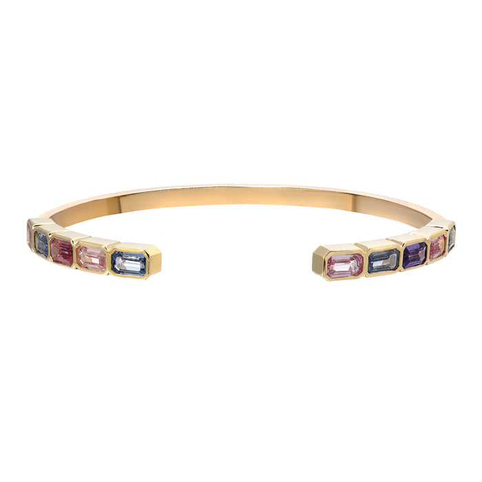 Brick Stack Multi-Sapphire Bangle 2.0