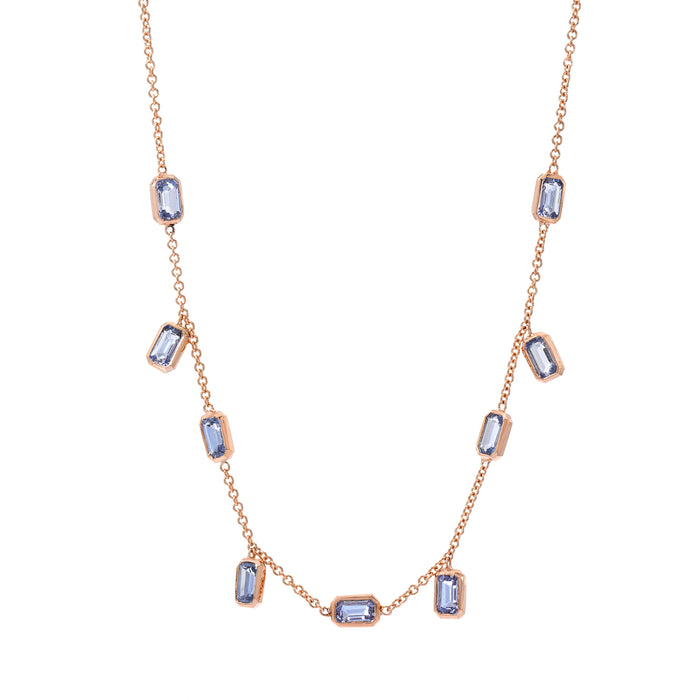 Brick Brigade Emerald Cut Necklace Periwinkle
