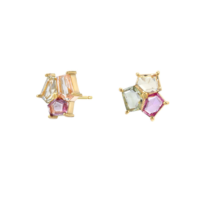 Mosaic Trio Stud Earrings