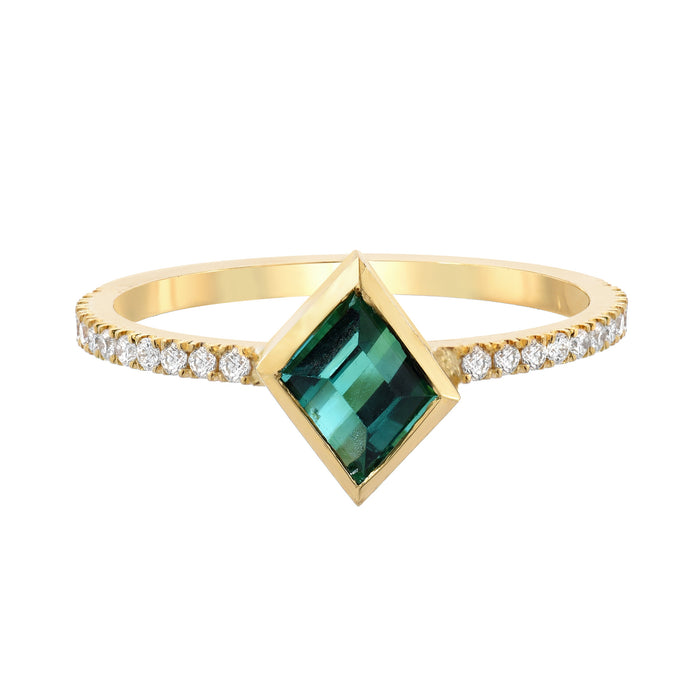 Mosaic Stack Ring with Tourmaline and Diamonds