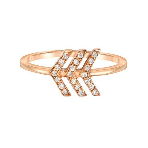 Triple Point Arrow Ring