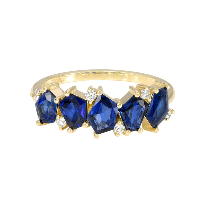 Mosaic Mix Ring Blue Sapphire