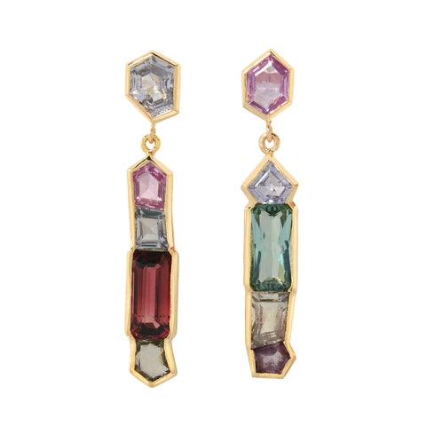 Mosaic Row Earrings