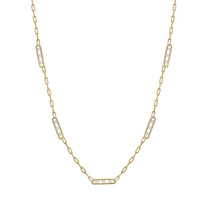 Tri Channel Link Necklace