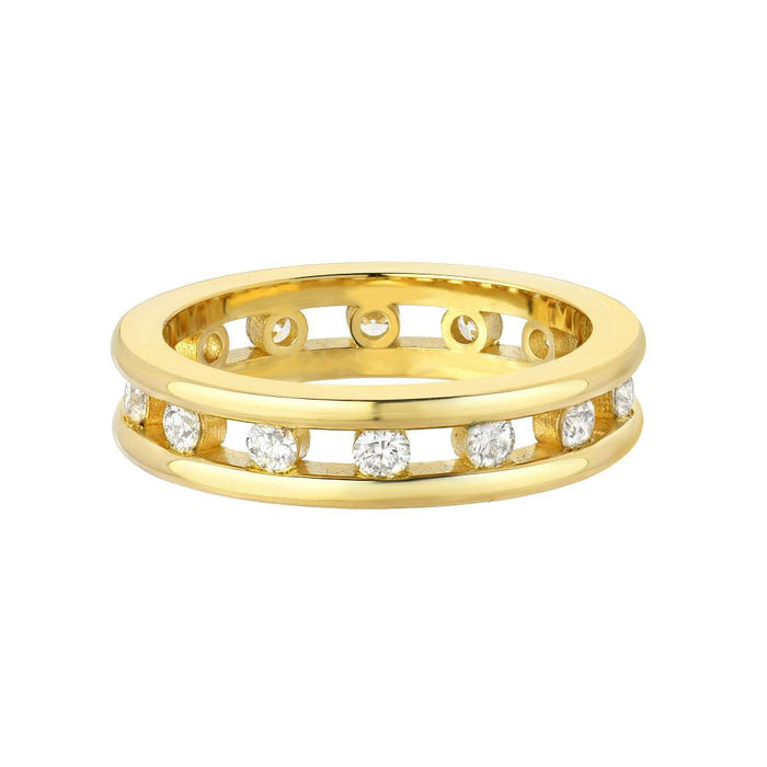 Tri Channel Eternity Ring