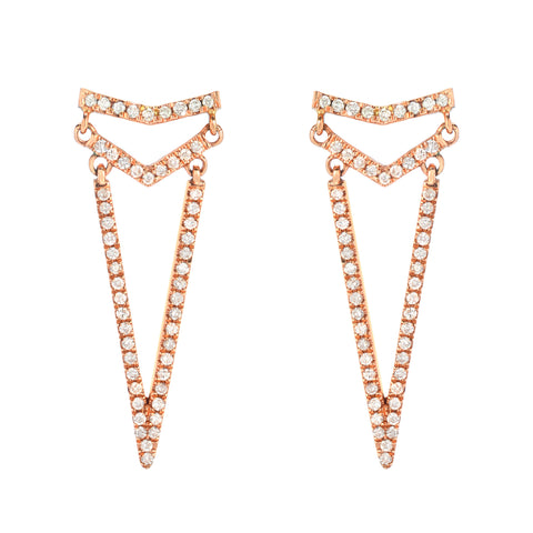 Triple Point Arrow Earrings