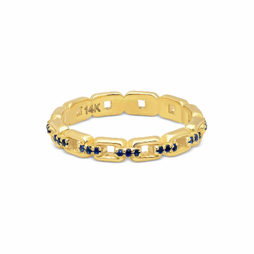 Chained Eternity Band Blue Sapphires