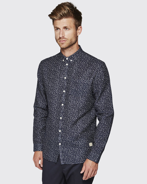 Minimum Duxford Shirt- Dark Navy