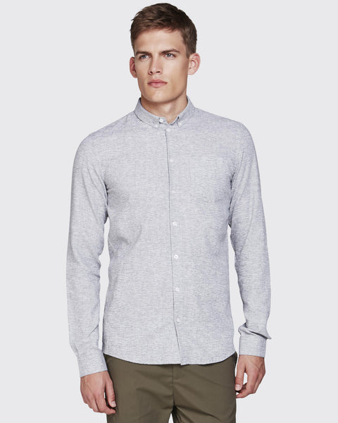 Minimum Pelham Shirt Grey Melange