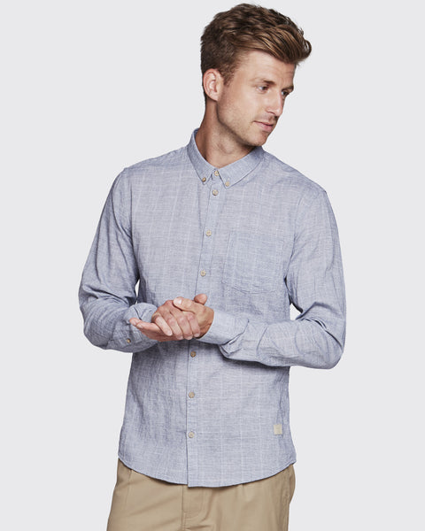 Minimum Duxford Shirt - Faded Denim