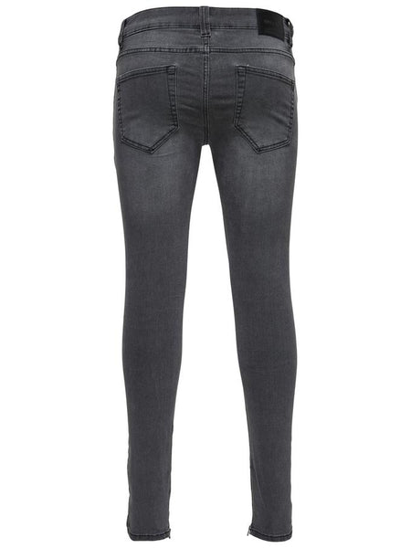 Only & Sons Warp Dark Grey Zip Denim