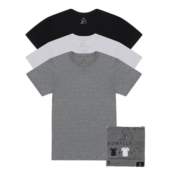 Kuwallatee 3 Pack Basic Crew Neck Mix