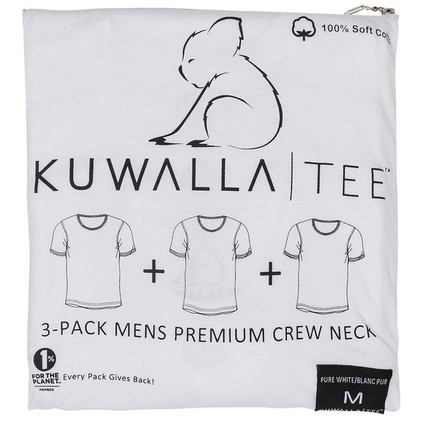 Kuwalla 3 Pack T Shirts White